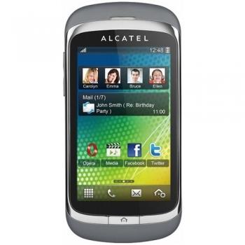 Telefon Mobil Alcatel One Touch 818D Steel Gray Dual SIM Camera Foto 2MPx ALC818DSG
