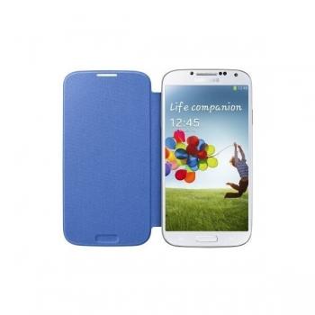 Husa Samsung Flip Cover pentru Galaxy S4 i9500, I9505 light Blue EF-FI950BCEGWW