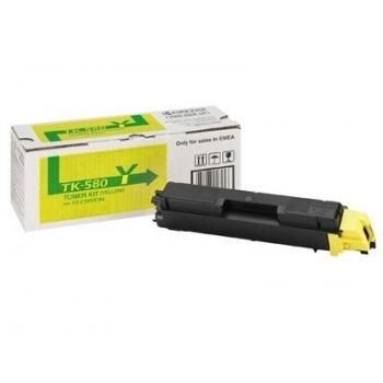 Cartus Toner Kyocera TK-580Y Yellow 2800 Pagini for Kyocera Mita FS-C5150DN