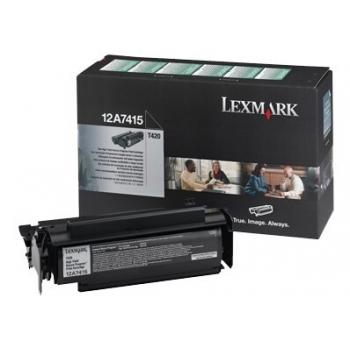 Cartus Toner Lexmark 12A7415 Black Return Program 10000 pagini for Optra T420