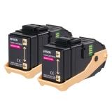 Pachet Cartus Toner Epson C13S050607 Magenta 2 Bucati 2x7500 Pagini for Aculaser C9300D2TN, C9300D3TNC, C9300DN, C9300DTN, C9300N, C9300TN