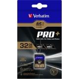 Card Memorie SDHC Verbatim PRO+ 32GB Clasa 10 UHS-I U3 49196