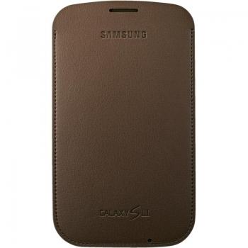 Husa Samsung pentru i9300 Galaxy S III din piele maro EFC-1G6LCECSTD