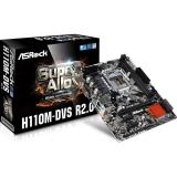 Placa de baza ASRock H110M-DVS R2.0 Socket 1151 Intel H110 2x DDR4 DVI D-Sub mATX