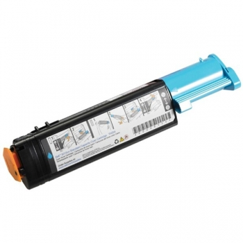Cartus Toner Dell T6412 / 593-10064 Cyan 2000 Pagini for Dell 3000CN, 3100CN