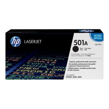 Cartus Toner HP Nr. 501A Black 6000 Pagini for Color LaserJet 3600, 3600N, 3800, CP3505, CP3505DN Q6470A