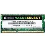 Memorie RAM Laptop SO-DIMM Corsair 4GB DDR3 1333MHz PC3-10600 CMSO4GX3M1A1333C9