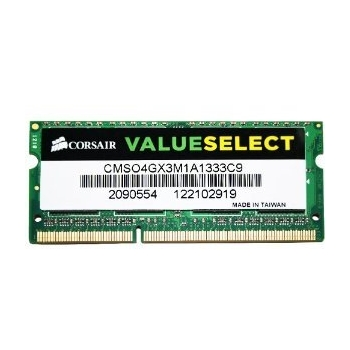 Memorie RAM Laptop SO-DIMM Corsair 4GB DDR3 1333MHz PC3-10600 CMSO4GX3M1A1333C9