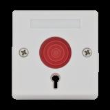Buton de panica aplicabil 5C-68B , cu cheie Contacte NO-COM-NC.Carcasa metalica, baza din ABS