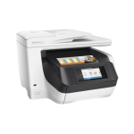 Officejet Pro 8730 e-All-in-One; Printer, Fax, Scanner, Copier, Web, A4, print (ISO speed): max 24ppm a/n, 20ppm color, max 4800x1200dpi, HP PCL XL (PCL 6), native PDF, HP Postscript Level 3 emulation, 512 MB RAM, duplex print/copy, borderless printing A4
