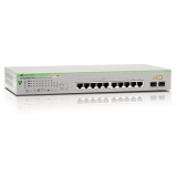 Switch 10 port ,Gigabit, 8 x POE, 2 x Gigabit, 2x Gigabit SFP uplink, Websmart, Rackmount, Non-blocking, 8K Mac Addresses, internal power supply, metal chassis , wall and 19