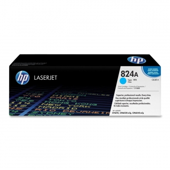 Cartus Toner HP Nr. 824A Cyan 21000 Pagini for Color LaserJet CM6030 MFP, CM6030F MFP, CM6040 MFP, CM6040F MFP, CP6015DN, CP6015N, CP6015XH CB381A