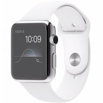 Ceas SmartWatch Apple Watch Sport 42mm Steel White MJ3V2LL