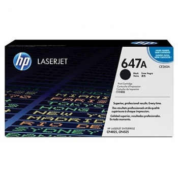 Cartus Toner HP Nr. 647A Black 8500 Pagini for Color LaserJet CM4540 MFP, CM4540F MFP, CM4540FSKM MFP, CP4025DN, CP4025N, CP4525DN, CP4525N, CP4525XH CE260A