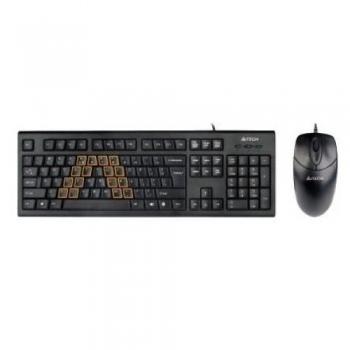 Kit Tastatura+Mouse A4tech KRS-8572-USB Tastatura KRS-85 + Mouse OP-720-B USB Black