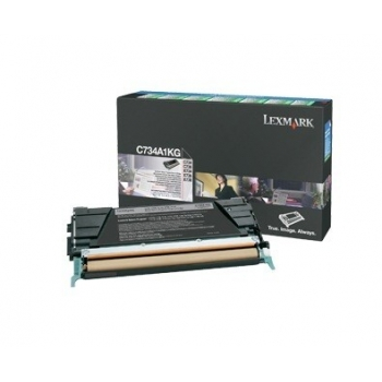 Cartus Toner Lexmark C734A1KG Black Return Program 8000 pagini for C734, X734, C736, X736, X738