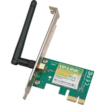 Placa de retea Wireless N TP-LINK TL-WN781ND 150Mbps PCI-E x1