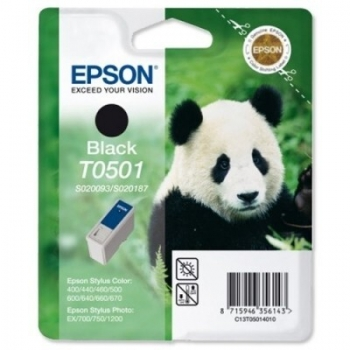 Cartus Cerneala Epson T0501 Black capacitate 540 pagini for Epson Stylus Color 400, 600, 440, 460, 640, 660, 670, 1200, 700, C13T05014010