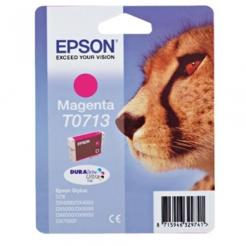 Cartus Cerneala Epson T0713 Magenta 5.5ml for Stylus D78, DX 4000, 4050, 5000, 5050, 6000, 6050, 7000F C13T07134011