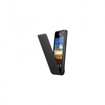 Husa protectie Samsung EF-C1A2BBECSTD Flip Cover Black pentru i9100 Galaxy S II