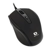 Mouse Serioux Pastel 3300 Optic 4 butoane 1600dpi USB negru PMO3300-BK