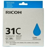 Cartus Cerneala Ricoh GC31C Cyan Capacitate 1000 pagini for Ricoh Aficio GX E2600, Aficio GX E3300N, Aficio GX E3350N