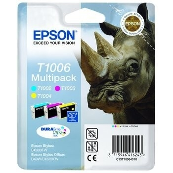 Multipack Cartuse Cerneala Epson T1006 CMY for Epson Stylus B1100, BX310FN, B40W, BX600FW, BX610FW, SX600FW, SX610FW, SX510, SX515W C13T10064010