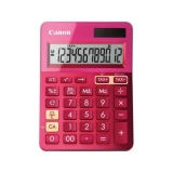 Calculator birou Canon LS123KPK roz, 12 digiti, ribbon, display LCD, functie business, tax si conversie moneda