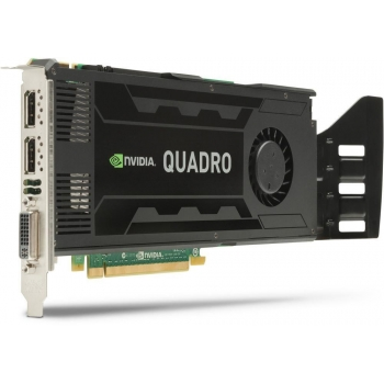 Placa Video HP nVidia Quadro K4000 3GB GDDR5 192bit PCI-E x16 2.0 DVI 2x DisplayPort C2J94AA