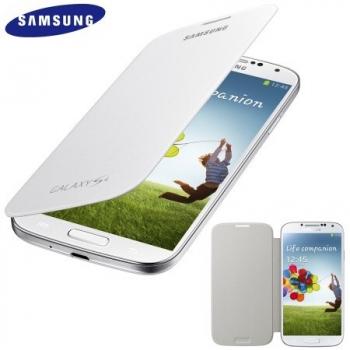 Husa Samsung Flip Cover pentru i9505 Galaxy S IV White EF-FI950BWEGWW