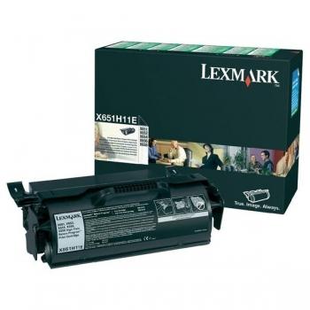 Cartus Toner Lexmark X651H11E Black High Yield Return Program 25000 pagini for X651, X652, X654, X656, X658