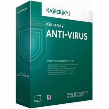 Anti-Virus Kaspersky European Edition Anti-Virus 2017, Nou, 1 utilizator, 1 AN + 3 luni gratuite retail KL1171XBABS