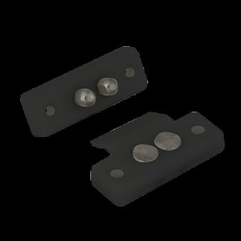 Contacte mecanice ABK-404B negre Pentru alimentarea incuietorilor electrice montate pe foaia de usa