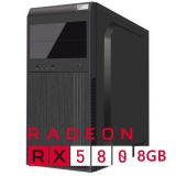 Sistem PC Bocris AMD RYZEN 3 up to 3.7GHz RAM 8GB DDR4 HDD 1TB AMD Radeon RX 580 8GB