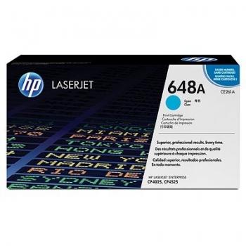 Cartus Toner HP Nr. 648A Cyan 11000 Pagini for Color LaserJet CP4025DN, CP4025N, CP4525DN, CP4525N, CP4525XH CE261A