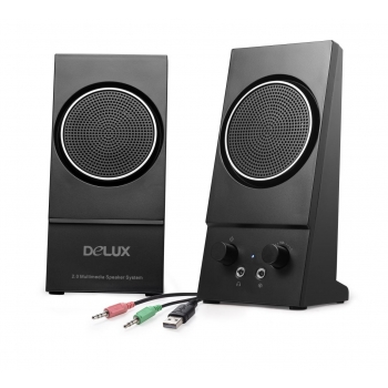 Boxe 2.0 Delux RMS 1Wx2 black Alimentare USB DLS-2013U