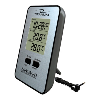 TITANUM TWS101 Weather Station with Wired Outdoor Sensor TWS101 - 5901299903018