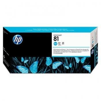 Cap Printare & Cleaner HP Nr. 81 Dye Cyan for Designjet 5000/UV, 5500 42', 5500 60', 5500 PS 42', 5500 PS 60', 5500 PS UV 42', 5500 PS UV 60', 5500 UV 42', 5500 UV 60', 5500MFP A0 C4951A