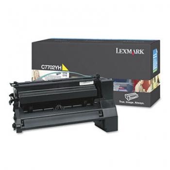 Cartus Toner Lexmark C7702YH Yellow Capacitate 1000 pagini for C770N, C772N, X772N