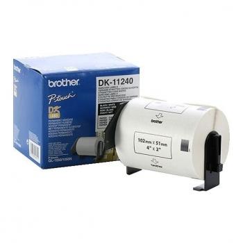 Rola Etichete Brother DK11240 barcode label Dimensiune 102mm X 51mm black on white