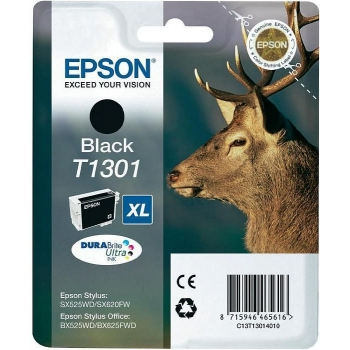 Cartus Cerneala Epson T1301 Black 25.4ml for Stylus Office B42WD, BX525WD, BX535WD, BX625FWD, BX630FW, BX935FWD C13T13014010