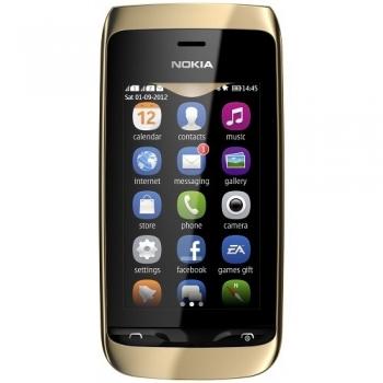 Telefon Mobil Nokia Asha 308 Golden Light Dual SIM NOK308GL