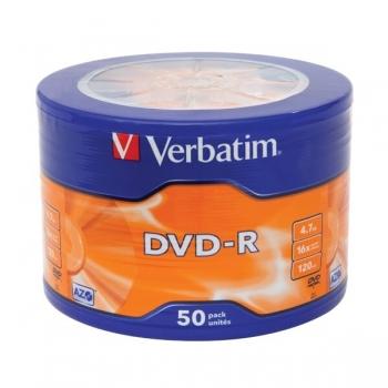 DVD-R Verbatim 4.7GB 16x 50 Bucati VB-43731