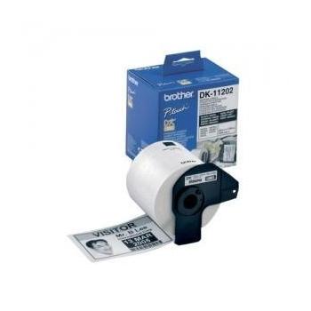 Rola Etichete Brother DK11209 small address label 29mm X 62mm black on white 800 bucati