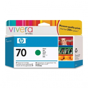 Cartus Cerneala HP Nr. 70 Green Vivera Ink 130 ml for HP Designjet Z2100 24', Designjet Z2100 44' Q6677A, Designjet Z2100 44' Q6677C, Designjet Z3200 24' C9457A