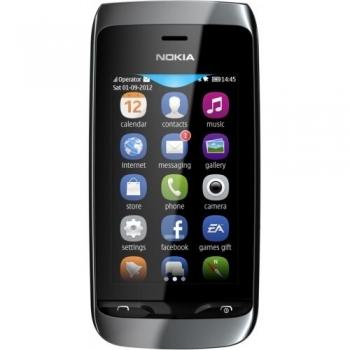"Telefon Mobil Nokia Asha 309 Black 3"" 240 x 400 TFT WiFi NOK309BLK"