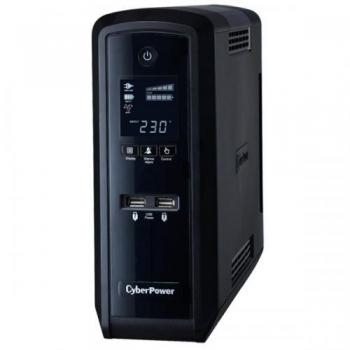 UPS Cyber Power 1500VA AVR 6 x Schuko (3 only surge), USB management&RJ45/RJ11 CP1500EPFCLCD