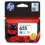 Cartus Cerneala HP Nr. 655 Cyan 600 Pagini for Deskjet Ink Advantage 3525, 4615, 4625, 5525, 6525 CZ110AE