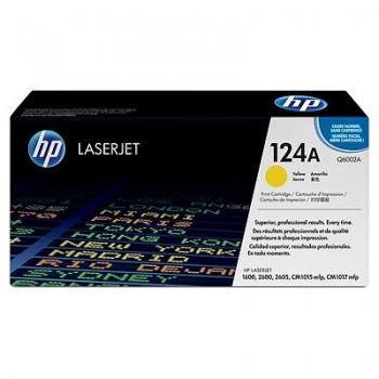 Cartus Toner HP Nr. 124A Yellow 2000 Pagini for Color LaserJet 1600, 2600N, 2605, 2605DN, 2605DTN, CM1015 MFP, CM1017 MFP Q6002A