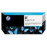 Cap Printare & Cleaner HP Nr. 81 Dye Light Cyan for Designjet 5000/UV, 5500 42', 5500 60', 5500 PS 42', 5500 PS 60', 5500 PS UV 42', 5500 PS UV 60', 5500 UV 42', 5500 UV 60', 5500MFP A0 C4954A